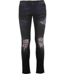 family first milano jeans denim patch bandana black