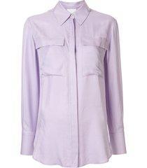 acler goldram loose-fit shirt - purple