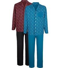 pyjama's roger kent 1x bordeaux, 1x petrol