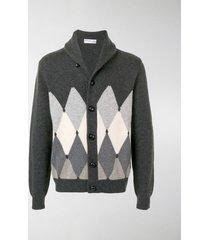 ballantyne argyle-knit cardigan