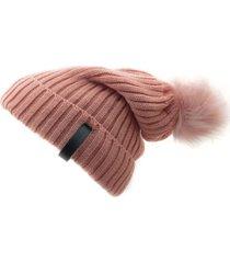 gorro de lana beanie snow 2.0 coral flaw