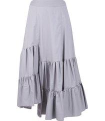 mm6 maison margiela tiered skirt