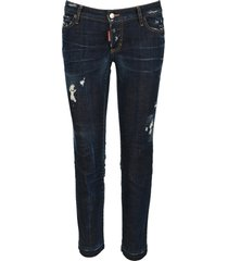 dsquared2 d squared distressed effect cropped jeans