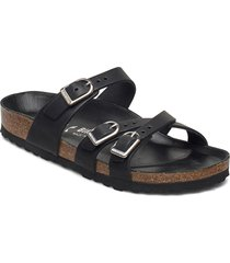 franca d-buckle shoes summer shoes flat sandals svart birkenstock
