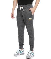 pantalón de buzo nike m nsw heritage jggr gris - calce regular
