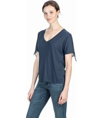 lilla p split sleeve v-neck tee