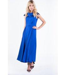 niebieska sukienka wieczorowa