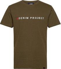 logo tee t-shirts short-sleeved grön denim project