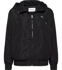 metallic windbreaker zomerjas dunne jas zwart calvin klein jeans