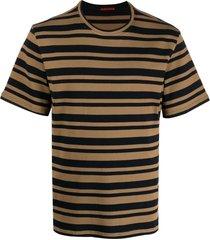 barena horizontal stripe-print t-shirt - brown