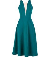 sukienka morska z głębokim dekoltem