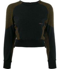 ambush fleece panel sweatshirt - black