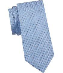 armani collezioni men's printed silk tie - blue