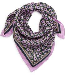 women's kate spade new york flair flora silk bandana, size one size - purple