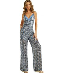 enterito sl fatu wide leg jumpsuit azul guess