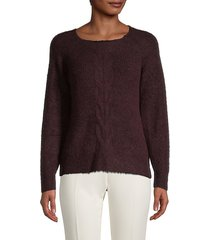cable-knit roundneck sweater