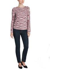 jones new york marled raglan-sleeve sweater