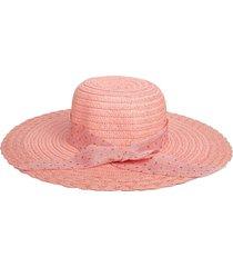 beach dots ribbon bowknot straw hat