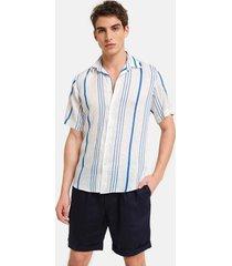 peninsula swimwear shirts la greca linen