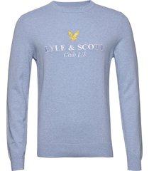 club l/s knitted jumper gebreide trui met ronde kraag lyle & scott