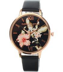 lvpai donna orologio elegante di retro in fiore e foglie