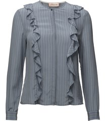 vibbe blouse lange mouwen blauw custommade