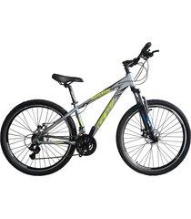 bicicletas todo terreno gw alligator  rin 29 shimano 7v tipo moto suspe disco gris amarillo neón