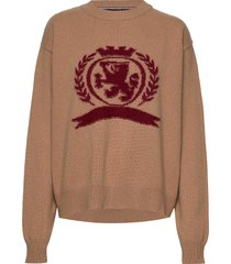 hcw crest crew neck, sweat-shirts & hoodies jumpers bruin hilfiger collection