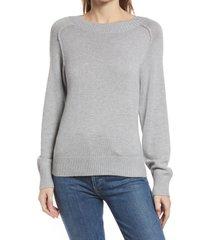 women's nordstrom cozy ballet neck sweater, size x-large - grey