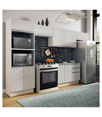 cozinha completa madesa 100% mdf acordes com armário e balcáo portas branco brilho branco