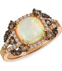 chocolatier® 14k strawberry gold®, neopolitan opal™, chocolate diamond® & vanilla diamond® ring