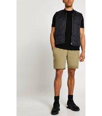 river island mens khaki ri slim fit shorts
