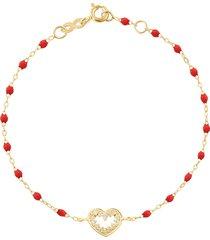 heart supreme classic gigi diamonds bracelet - 6.7in - poppy
