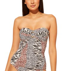 bleu by rod beattie ring tankini top women's swimsuit
