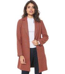 casaco sobretudo colcci contraste laranja - laranja - feminino - poliã©ster - dafiti