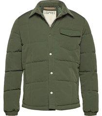 jackets outdoor woven doorgestikte jas groen esprit casual