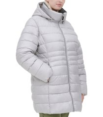 marc new york plus size hooded puffer coat