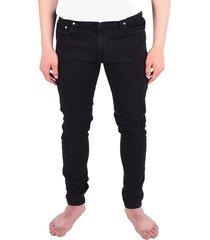 'blown knee' denim jeans