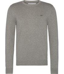 ckj chest logo sweater gris calvin klein
