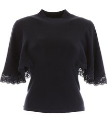 see by chloé knit top with cape sleeves
