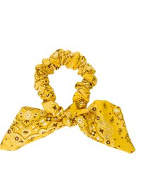 acessório laço de tecido único jarvy amarelo