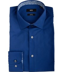 hugo boss joras overhemd kobaltblauw 50439129/417