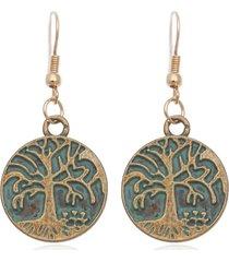 orecchini di boemo antici in lega orecchini lunghe con vità dell'albero