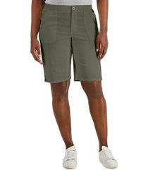 karen scott button hem bermuda shorts, created for macy's