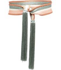 forte forte tassel waist-tied belt - green