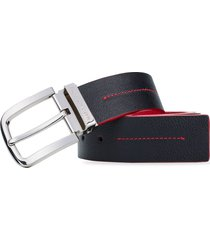cinturon sahara 3.9cm negro tomate cinturon hombre