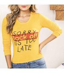 blusa eda amarillo para mujer croydon