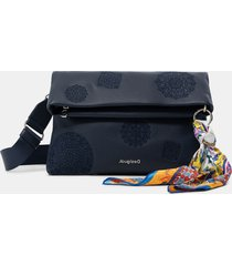 embossed wallet-bag - blue - u