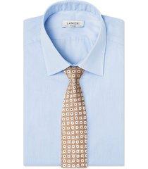 cravatta su misura, lanieri, beige optical, quattro stagioni | lanieri