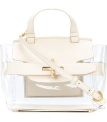 zac zac posen brigette belted satchel - white